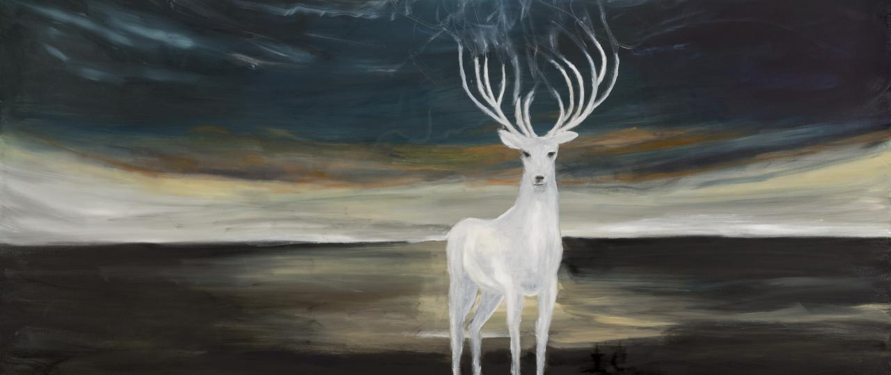 Lars Weller, Transformation, 2014, olieverf op doek, 100x150 cm