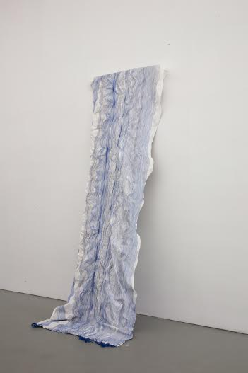 When I think of You, 1988  Embroidery  210 x 80 cm  Courtesy Galerie Fons Welters  Photography: Tamara Kuselman