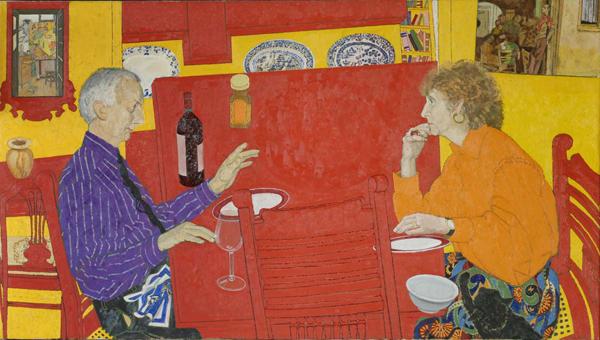 Conversation 1990 -1991. Oil on canvas