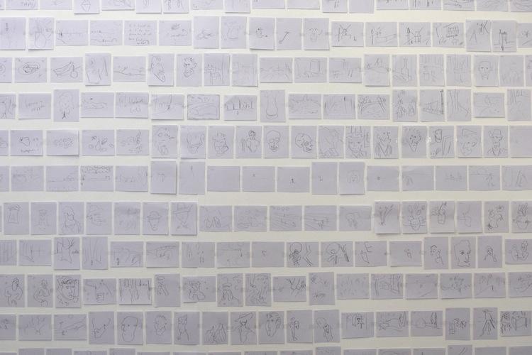 Sander Uitdenhaag, Johan Deumens Gallery (20 seconden tekeningen van het Tashen boek van van Gogh)