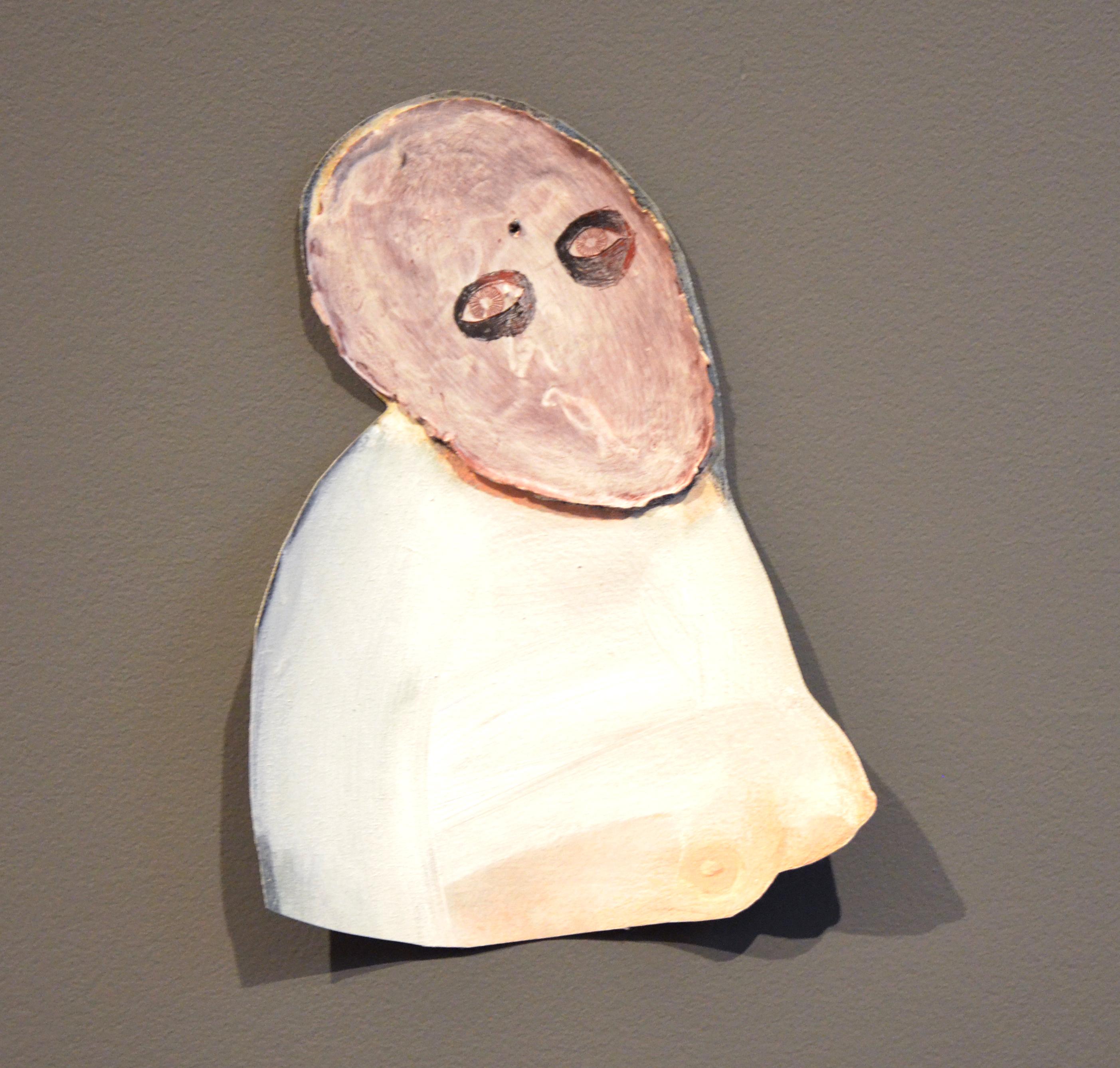 Eva Spierenburg-Verloren hoofd met tietjes-39,5x29,5cm-2014