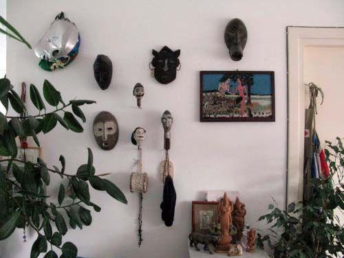 Een wand in het huis van Remy Jungerman
