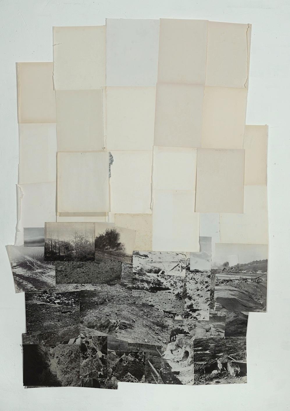 Dieuwke Spaans, Landscape mixed media / collage, 180 x 129 cm