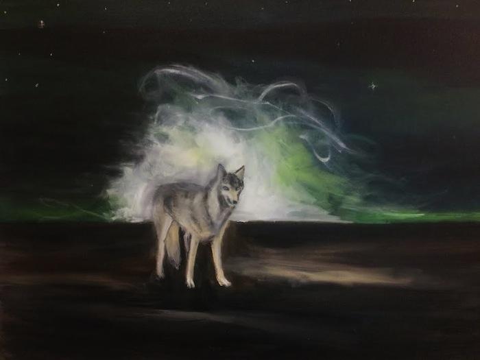 Lars Weller, New Horizon, 2014, olieverf op doek, 80x100 cm