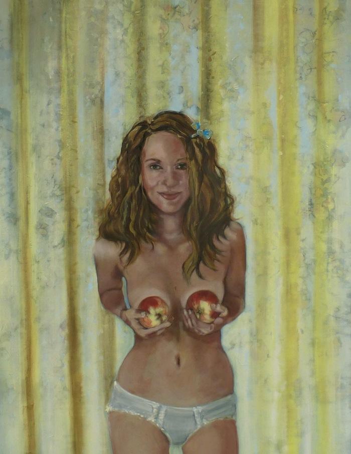 Marit Dik, Two is better, 2014, acryl op doek, 90x120 cm