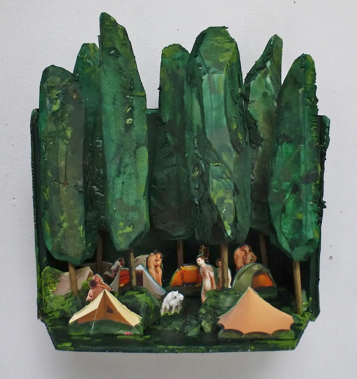 Marit Dik, Z.T. (kamperen), 2014, diorama, 28x28x16 cm