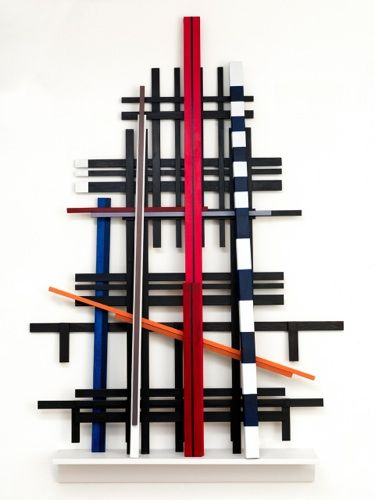 Voices of Babel 2013/ painted wood/ 154 x 104 x 16 cm/ foto: Aatjan Renders