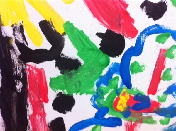 10 meest vernieuwende kunstwerken uit de kringloopwinkel mister motley - Schilderij ingang en gang ...