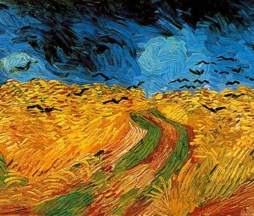 Korenveld met kraaien, Vincent van Gogh, Olieverf op doek, 50.5 x 103.0 cm Auvers-sur-Oise: juli 1890