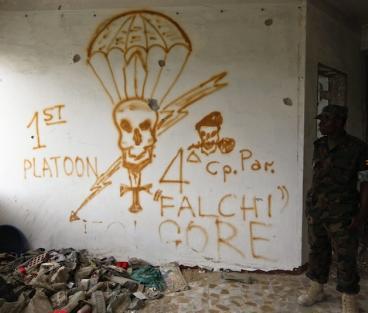 Graffiti by Italian soldiers at their base in Mogadishu, Somalia.